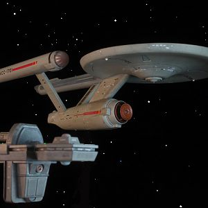 "Rendezvous - USS Antares and USS Enterprise from Rremastered Episode of ""Charlie X"""
