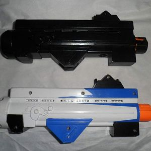 Blaster Replica Project Before and After PArts