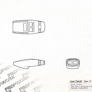 Rick Sternbach's drawing for the phaser