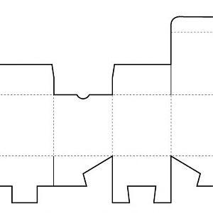 a cube template to use for the nose biting teacup.