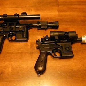 Han Solo ANH and ESB Blaster