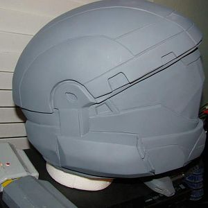 Halo 3 ODST helmet that I made from pep this is a pic of it before it was molded, I gave casting rights to Blackula for this helmet if you are interes