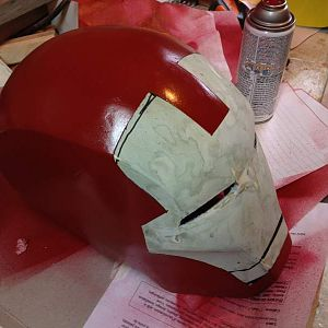 iron man mask about to be finished (not detailed)